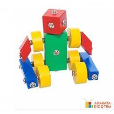 Com o Brinquedo de madeira Click Formas, a criança poderá unir peças e usar sua imaginação e criatividades para formar bonecos e robôs como quiser. Os brinquedos Click Formas ajuda no desenvolvimento, concentração e coordenação motora.