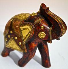 Elefant, messingverziert