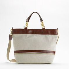 Factory exhibitor canvas tote...great weekender