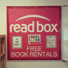 'Read box' reading bulletin board I did for the hub's classroom. Love how it turned out! Got the idea from marcicoombs.blogspot.com