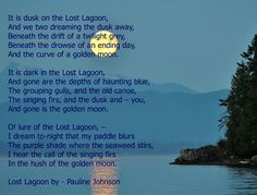 Lost Lagoon by - Pauline Johnson George Sand, Walt Whitman, Poems, Lost, Day, Poetry