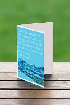 Anne Of Green Gables Card/ Anne of Green Gables Gift /Anne of Green Gables Art/ Seaside Art /Seaside Cards /Lighthouse Print/ Ocean Gifts