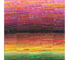 """Rainbows of autumn. Art quilt. Abstract wall hanging. Contemporary landscape. Fiber art. 45x45"""". OOAK. Textile art. Modern home decor. by AnnBrauer on Etsy"""
