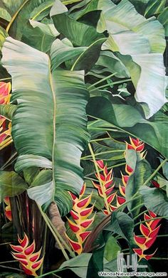 planting Pattern tropical - New Plants Wallpaper Pattern Tropical Prints Ideas Motif Tropical, Tropical Leaves, Tropical Plants, Tropical Flowers, Figurative Kunst, Plant Wallpaper, Hawaiian Art, Motif Floral, Leaf Art