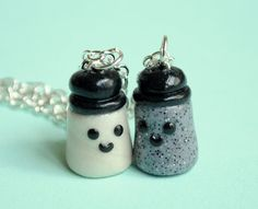 Salt and Pepper Best Friend Charm Necklaces from PumpkinPyeBoutique on Etsy