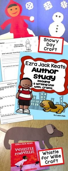 Ezra Jack Keats author study for 7 different books.  Snowy Day, Peter's Chair, A Letter for Amy, Pet Show, Goggles, Whistle for Willie! Cute crafts too! :)