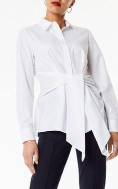 Karen Millen, Wrap Front Shirt White