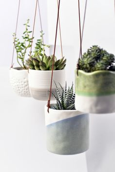 Hanging plant pots by 10 gardening trends set to blossom in 2018 media. Ceramic Plant Pots, Clay Pots, Concrete Plant Pots, Ceramic Flower Pots, Pottery Pots, Ceramic Pottery, Hand Painted Pottery, Clay Projects, Clay Crafts