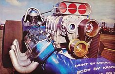 "Jungle"" Larry Faust Mooneyham-Ferguson-Jackson & Faust AA/FD U.S. Fuel & Gas Championships Bakersfield 1965"
