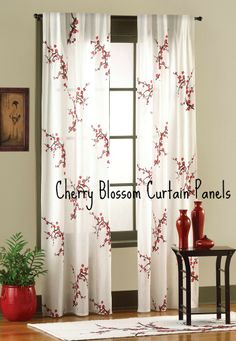 Cherry Blossom Curtain Panels