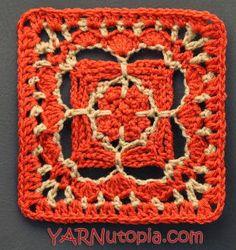 Charming Chain Crochet Granny Square | Bright, bold and beautiful, this crochet granny square is your perfect scene-stealer