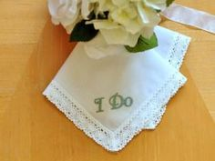 Embellishing Your Wedding Handkerchief DIY Tutorial