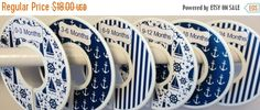 ON SALE 6 Custom Baby Closet Dividers in Navy Nautical Anchors Sailboats Lighthouses Ocean Sea CD606 Baby Boy Shower Gift Nursery Clothes Or by GinaMarieOriginals on Etsy https://www.etsy.com/listing/197066095/on-sale-6-custom-baby-closet-dividers-in