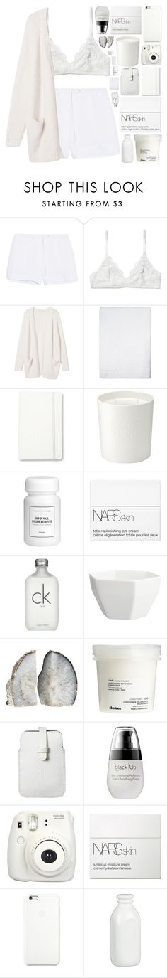 """when you play me, you play yourself. don't play yourself."" by dont-go-to-sleep ❤ liked on Polyvore featuring Skin, Monki, Simple Life, Moleskine, The White Company, NARS Cosmetics, Calvin Klein, CB2, Davines and Mossimo"