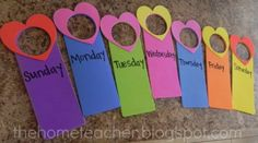 Use foam door hangers when you need to label a hanging item.