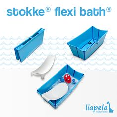 The Stokke Flexi Bath (US)$39.99 is a tub you can take with you. It can be used from birth, with the Newborn Support, to four years old. Like on Instagram @LiapelaModernBaby