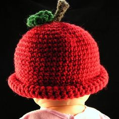 Adorable apple hat for baby by @laruefashions is great for Fall! $18