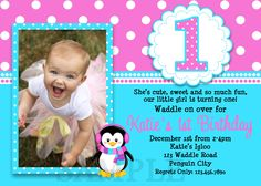 1st birthday and baptism combined invitations baptism