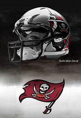 Tampa Bay Buccaneers helmets