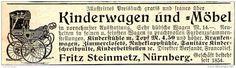 Original-Werbung/ Anzeige 1897 - KINDERWAGEN / KINDERMÖBEL /FRITZ STEINMETZ…