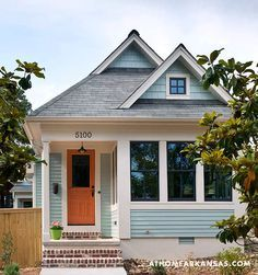A great success story using the Whidbey floorplan from Tumbleweed (via Hooked on Houses and At Home Arkansas)