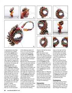 "Photo from album ""Bead & Button 126 April on Yandex.Disk - Photo by nadezda. Seed Bead Patterns, Beaded Bracelet Patterns, Beaded Earrings, Beading Patterns, Beaded Bracelets, Knitting Patterns, Art Patterns, Bracelet Watch, Tutorials"