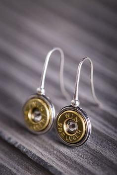 Sterling Silver Bullet Earrings $54.00