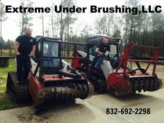Forestry Mulching Services, Conroe Texas + 100 Miles. Extreme Under Brushing, LLC   Hydro ax mulching or Under Brushing is the best thing to do when land clearing. There is nothing to haul away and no piles left on your property. We can hydro ax your land, and it will turn all trees up to 6inch trees in to mulch. We Service all of Conroe and ALL surrounding areas. 832-692-2298