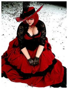 cherries on the snow spectacularly beautiful white skin and scarlet hair (with cleavage for days)