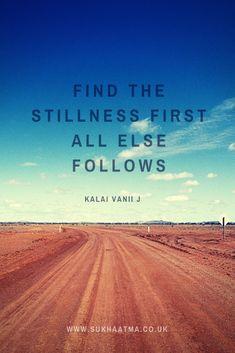 #Stillness #Foundation