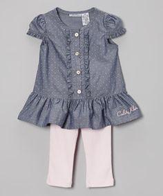 Calvin Klein drop waist dress and leggings-Zulily