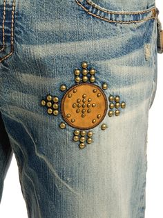 Denim jeans embellished #denimlovers