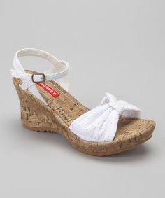 Take a look at this White Nadine Wedge Sandal by UNIONBAY on #zulily today! $18.99, regular 50.00