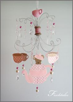 MOVING SALE Nursery Mobile Baby Mobile Pink by fischtaledesigns, $95.00