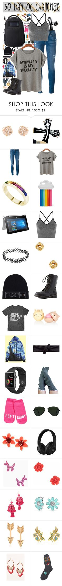 """30 Day OC challenge: Day one"" by wibbly-wobbly-timey-wimey-dork on Polyvore featuring Accessorize, Frame, StyleRocks, STELLA McCARTNEY, HP, Ivy Park, Candela, Charlotte Russe, Foot Traffic and Kate Spade"