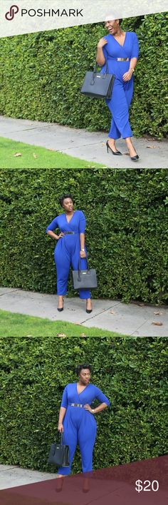 Blue Jumpsuit Blue Jumpsuit. No zipper, no buttons, just climb in! debshops Other