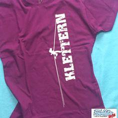 T-Shirts mit Print - Damen T-Shirt - Kletterzug purple - ein Designerstück von chrismchn bei DaWanda