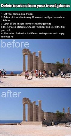 Delete pesky tourists from your travel photos.