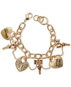 Guess Gold-Tone Charm Bracelet