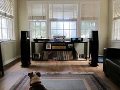 High end audio audiophile music listening room – Ry an – Audioroom Home Theater Installation, Audio Installation, Audiophile Music, Hifi Audio, New Home Theatre, Home Music, Sound Room, Vinyl Storage, Record Storage