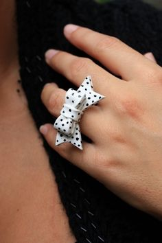 Polka Dot Bow Ring