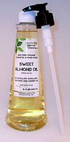 Convenient 16 Oz Pump Bottle Filled With 100 Pure Organic Sweet Almond Oil From Earths Essentials * Learn more by visiting the image link.