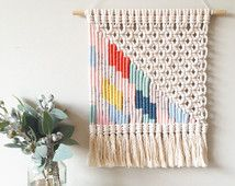 Woven macrame wall hanging | multi-couloured lightning