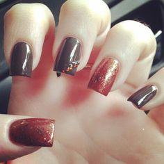 Fall Thanksgiving nail art