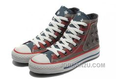 0ebe649217cd Red Grey Converse American Flag Metal High Tops All Star The End Of The  World Canvas