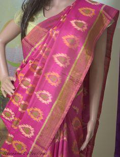 Pink Rajkot Patola Pure Silk Saree Blouse : Pink Pure Silk Blouse Product Code :SR004