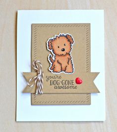 card critters dog dogs heart Avery Elle Furry Friends