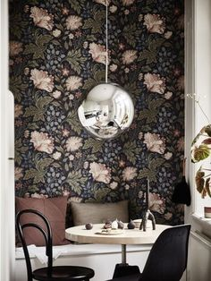 As the days grow shorter and darker, our favorite summer florals are coming over to the dark side, showing up in deep hues on wallpaper, textiles and even tiles