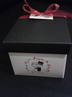 Invitaciones tipo caja 8x8