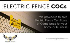 An Electric Fence COC is not a nice-to-have; its the law!  Contact Security Brokerz​ to make sure its done properly the first time.🤓☝️